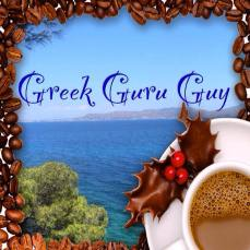 Greek guru guy coffee